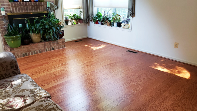 waterproof vinyl plank flooring in the living room