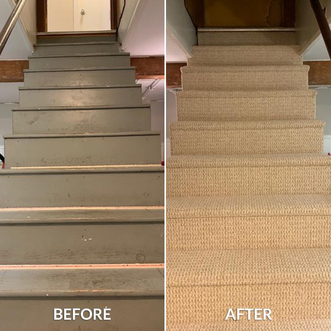 Staircase Gets A Berber Carpet Makeover Empire Today Blog
