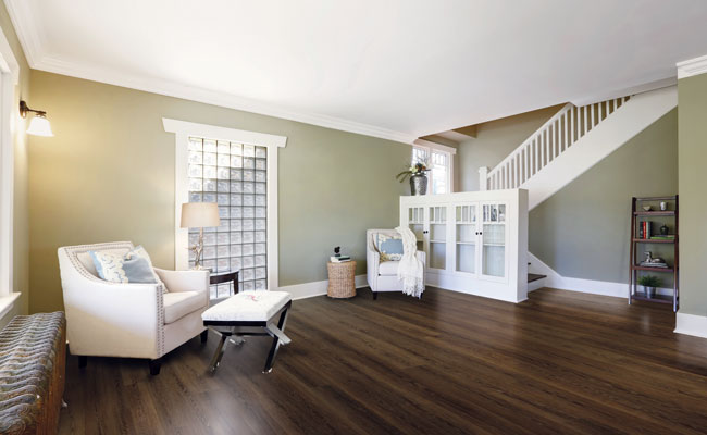 cool tone wood look flooring and cool tone wall paint color