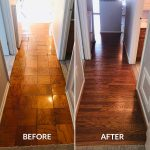 wood laminate before and after