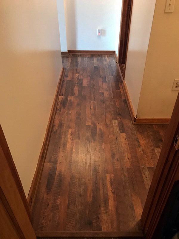wood laminate flooring in hallway