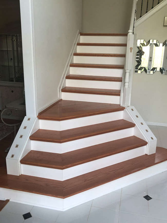 solid hardwood on staircase