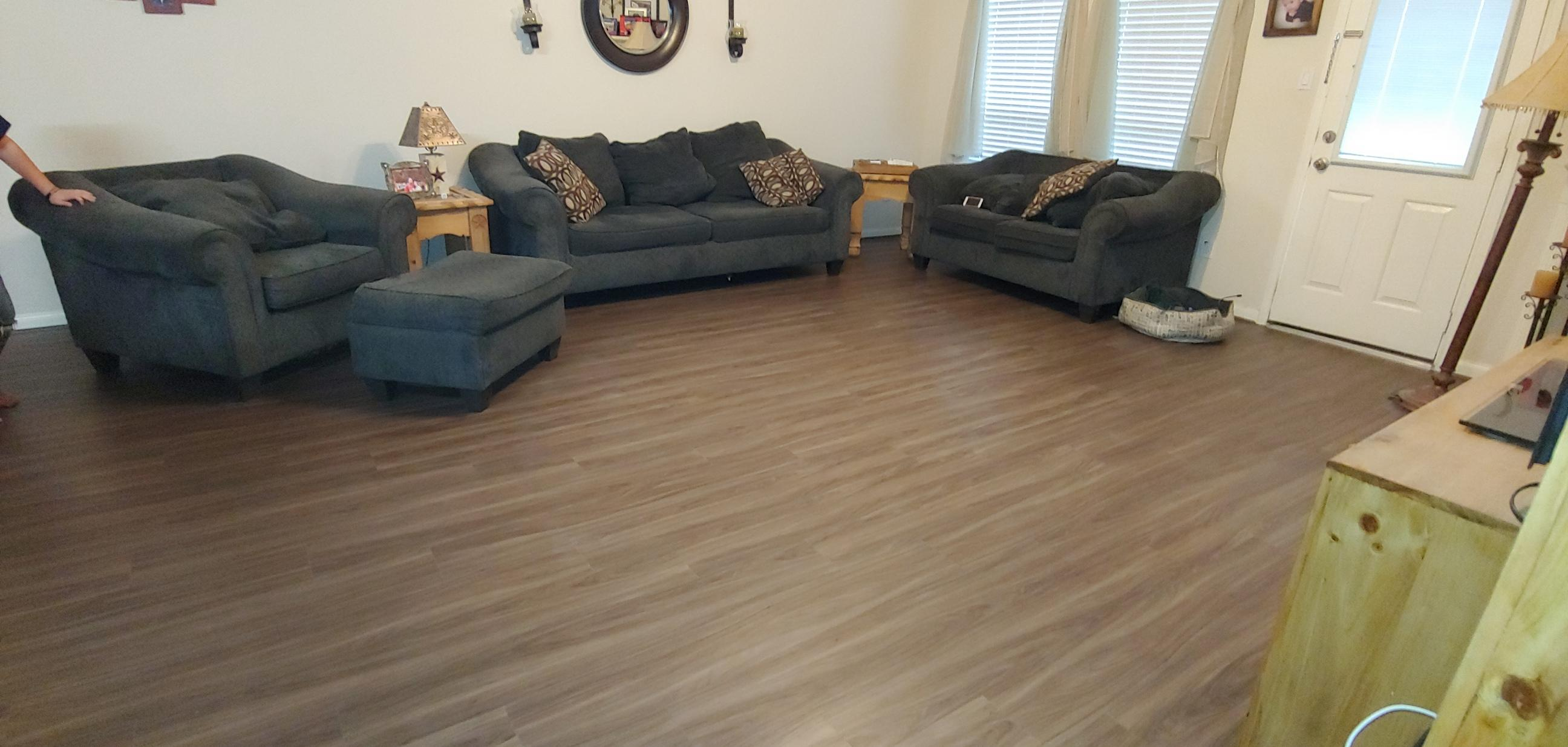 luxury vinyl plank flooring in home