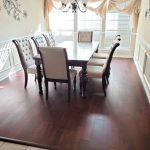 engineered flooring in dining room