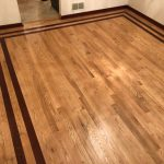 solid hardwood pattern in dining room