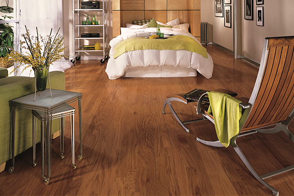 american manufactured solid hardwood in a bedroom