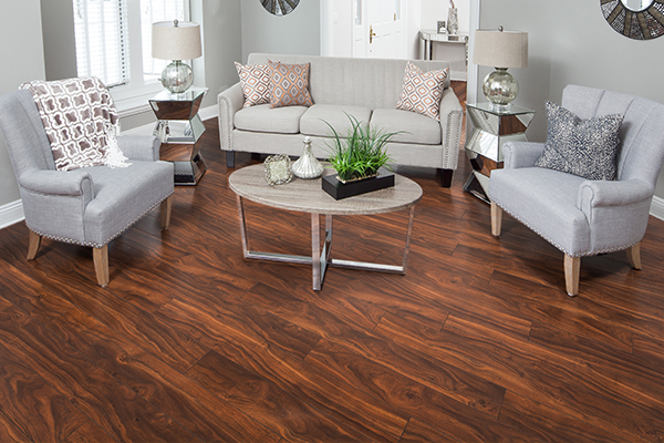 american manufactured laminate flooring in the living room