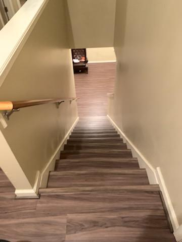 vinyl plank flooring on stairs