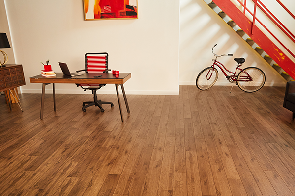 laminate wood flooring in a home office
