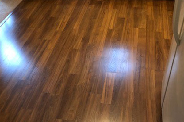 closeup of laminate flooring