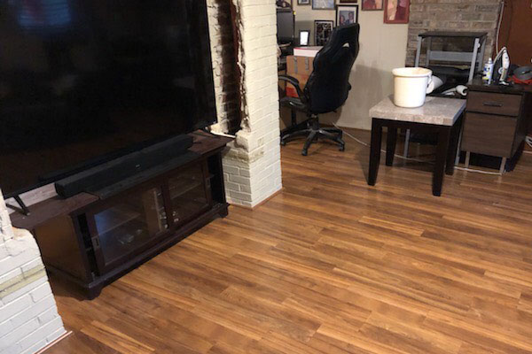 laminate flooring in the family room